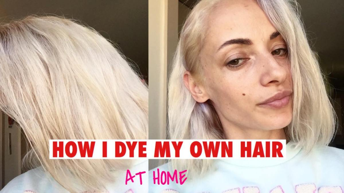 How I color my own hair BLONDE